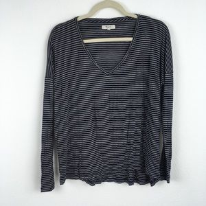 [Madewell] Oversized Striped Long Sleeve Tee
